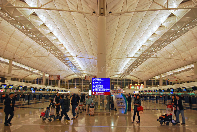 香港机场 免版税图库摄影