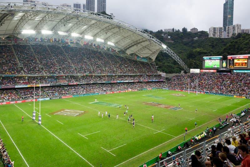 香港橄榄球Sevens 2014年 库存图片