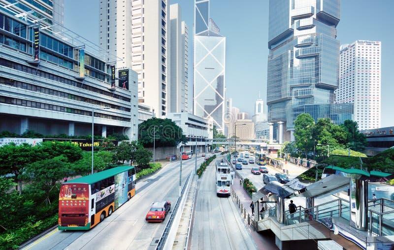 香港海岛都市风景 免版税库存图片