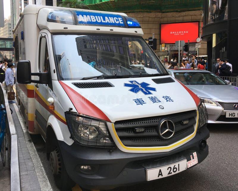 香港消防署救护车 库存图片