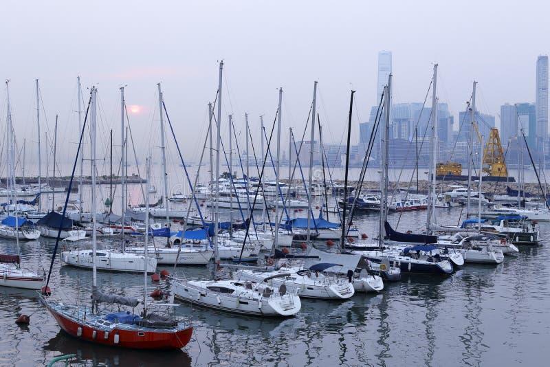 香港游艇小游艇船坞 免版税库存图片
