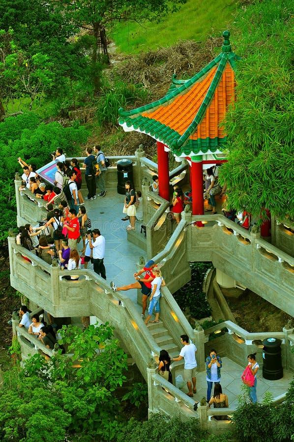 香港狮子亭子峰顶 库存照片
