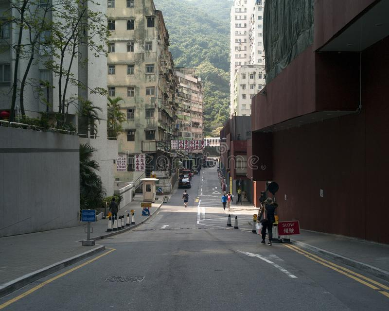 香港空的街道  库存照片