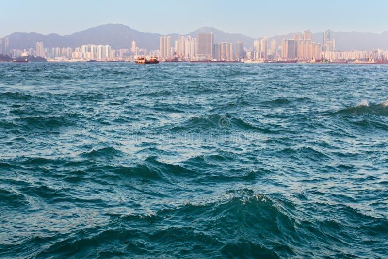 香港端口海运纹理 免版税库存图片
