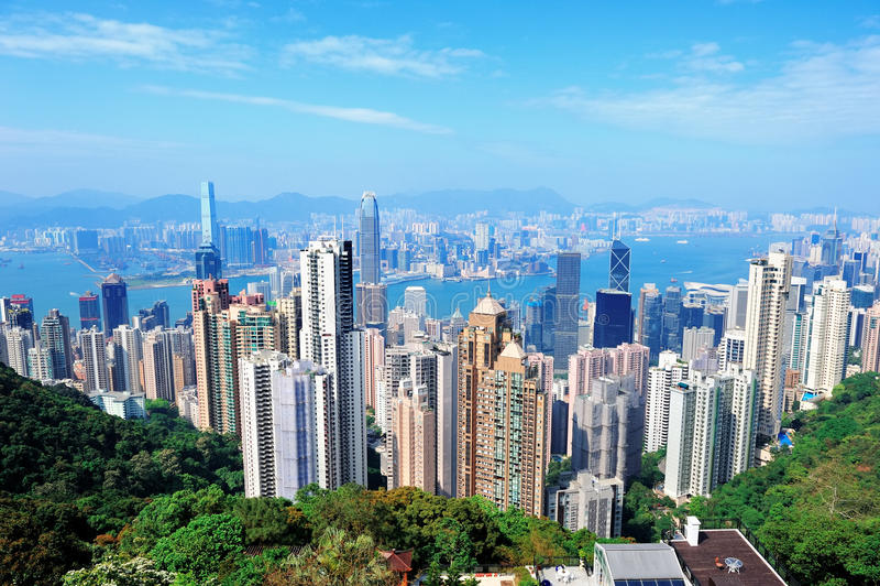 香港结构 库存图片