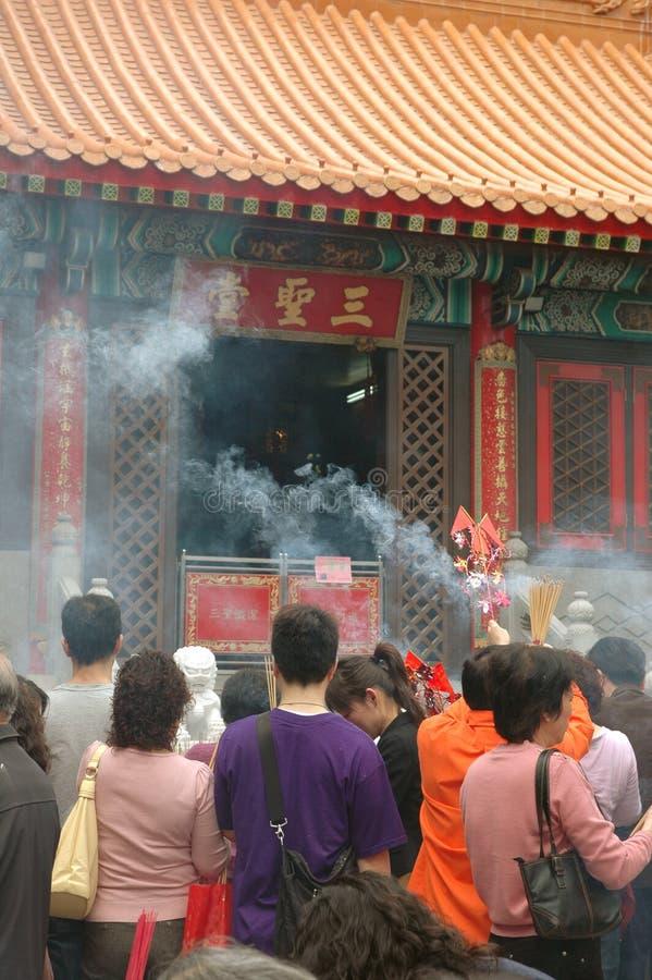 香港罪孽tai寺庙wong 图库摄影