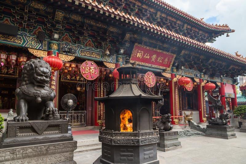 香港罪孽tai寺庙wong 免版税库存照片