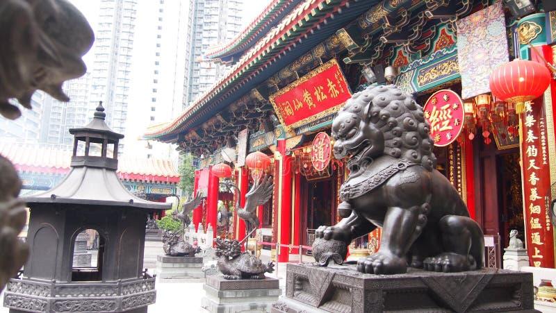 香港罪孽tai寺庙wong 免版税库存图片