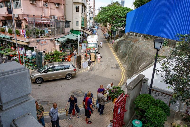 香港花市场Rd,爱德华王子 库存照片