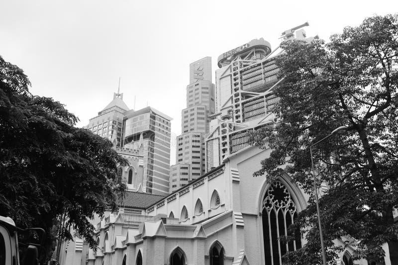 香港街市摩天大楼 库存图片