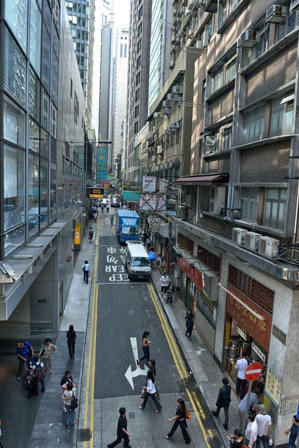 香港街视图 库存照片