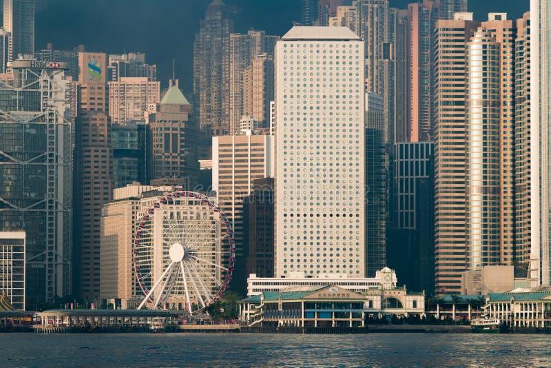 香港观察轮子 免版税图库摄影