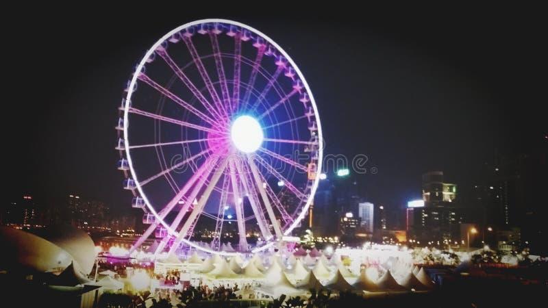 香港观察轮子 免版税库存照片