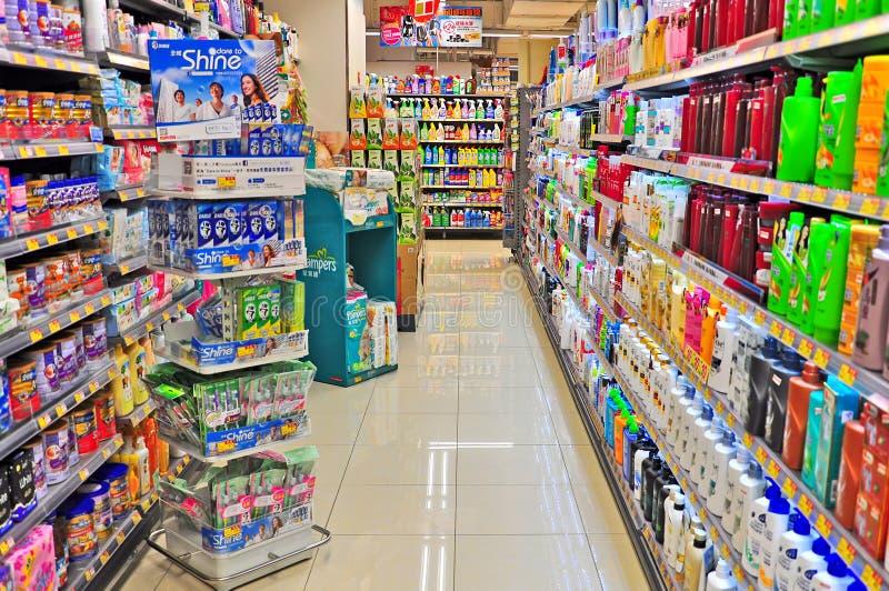 香港超级市场 库存图片