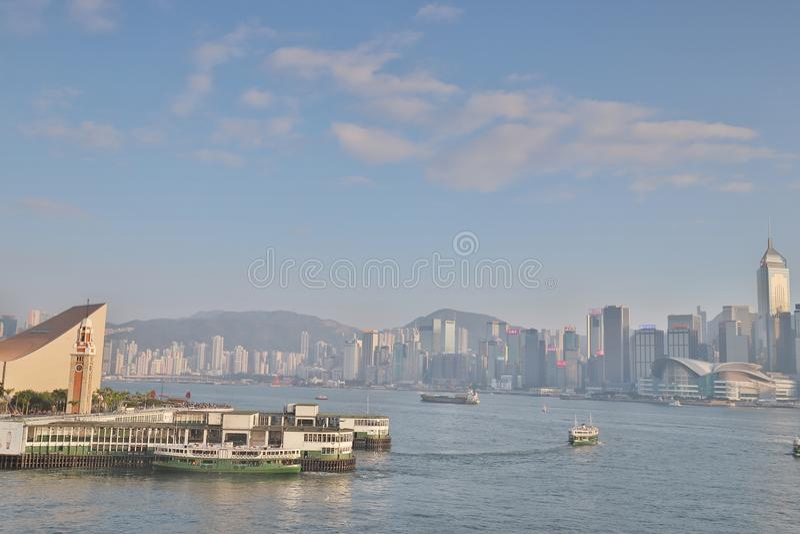 香港轮渡口岸 在tst 免版税库存照片