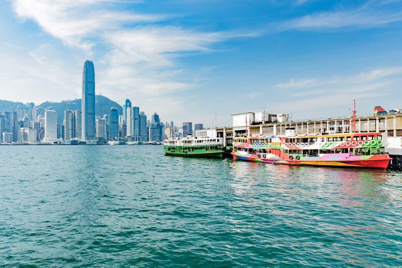 香港轮渡口岸 库存图片