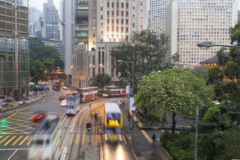 香港都市交通 免版税库存照片