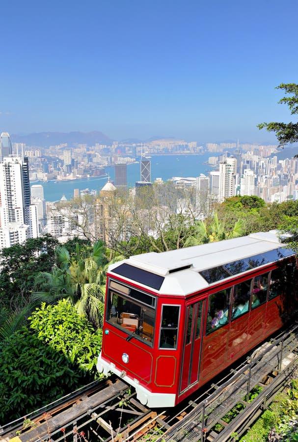 香港高峰电车 免版税图库摄影