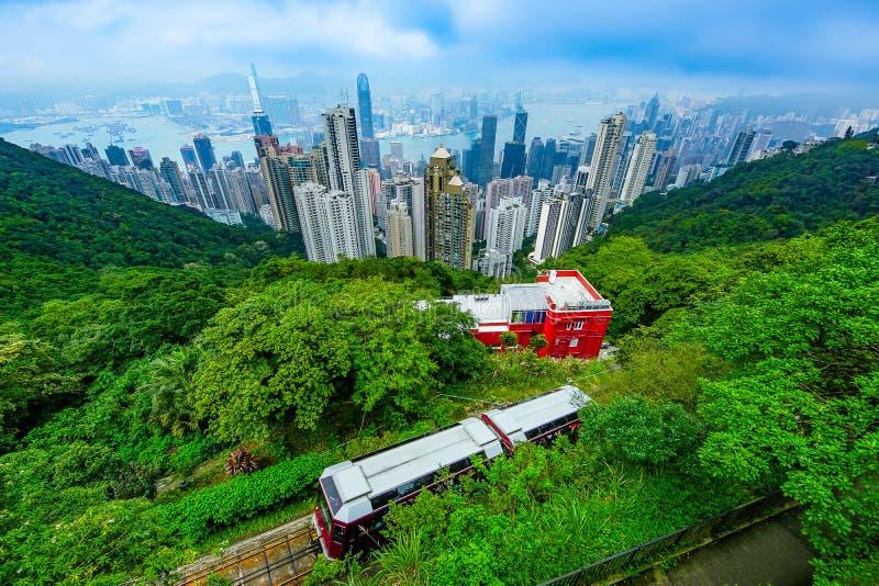 香港高峰电车 库存图片
