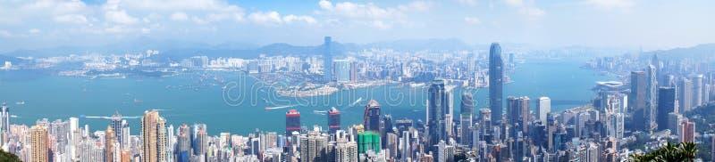 香港鸟瞰图全景 免版税库存图片