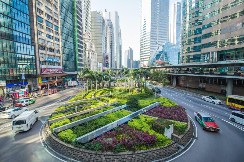 香港,中国中区地标  库存图片