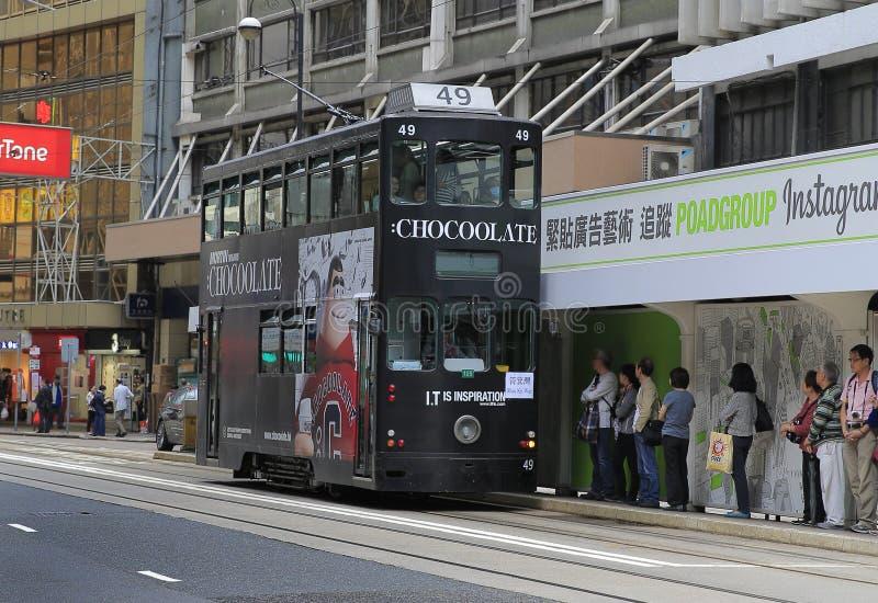 香港,中国街道  库存照片