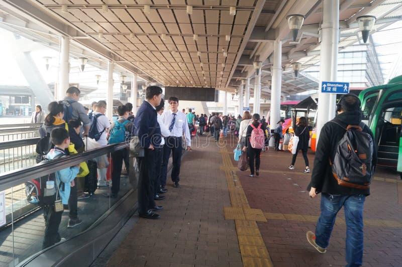 香港,中国:深圳湾口岸 库存照片