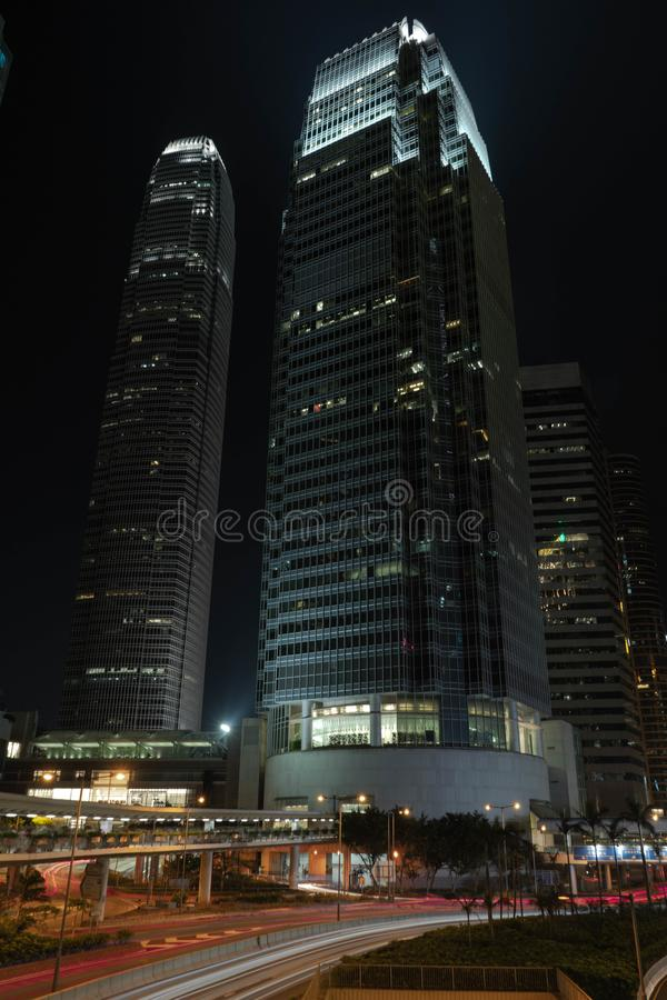 香港,康诺特路中央,国际金融中心阶段我,香港照片必须去 免版税图库摄影