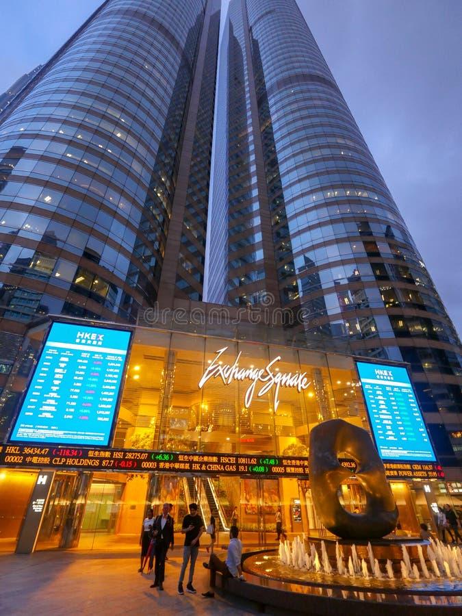 香港,证券交易所 图库摄影
