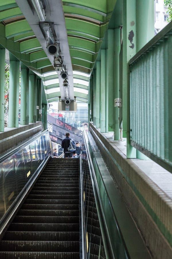 香港, CHINA/ASIA - 2月27日:在香港池氏的都市场面 免版税库存图片