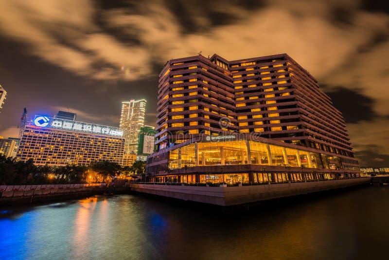 香港- 2014年7月27日:洲际的旅馆 免版税库存图片