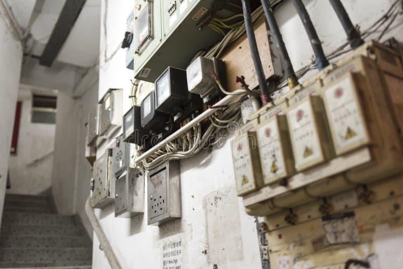 香港经济公寓住宅台阶 免版税库存照片