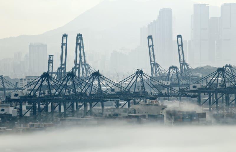 香港货物口岸 库存照片