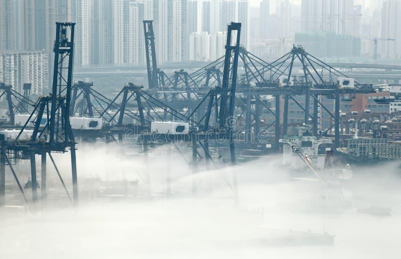 香港货物口岸 库存图片