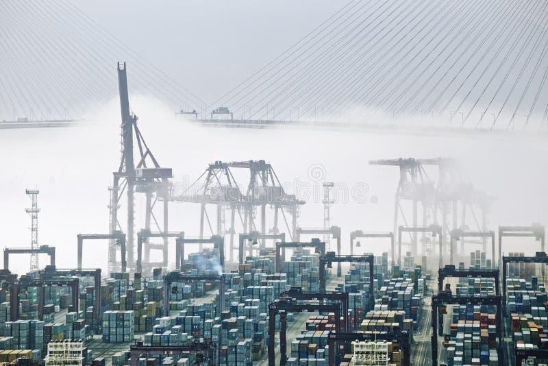 香港货物口岸 免版税库存照片
