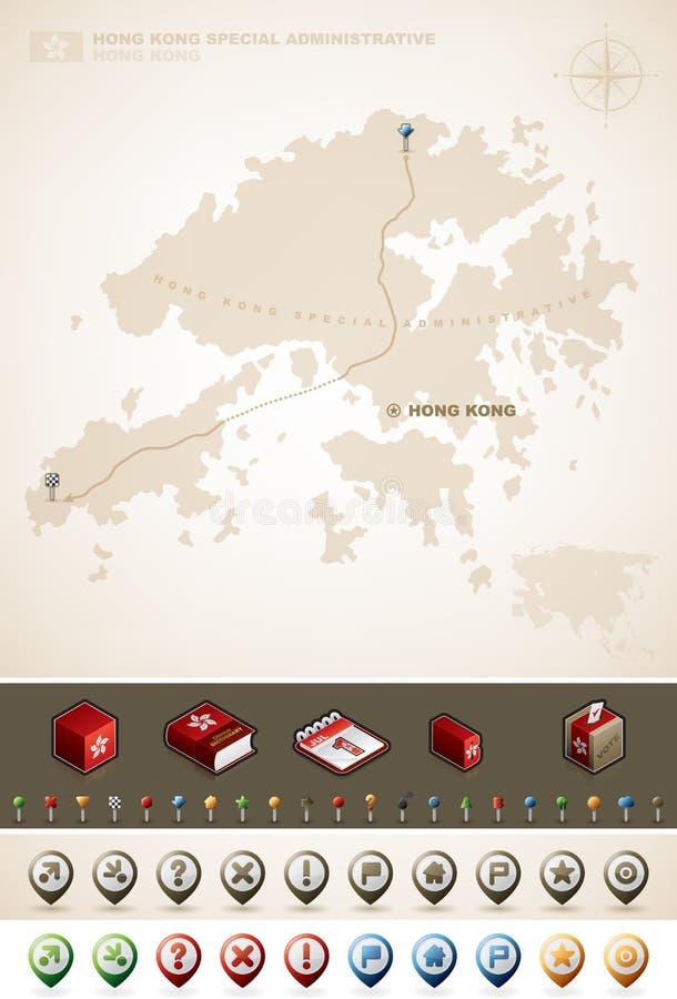 香港 向量例证