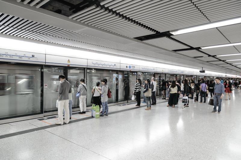 香港mtr 免版税库存照片