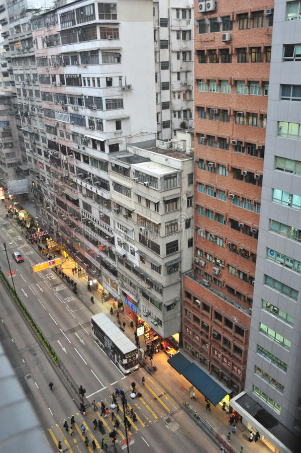 香港nathan路 免版税库存照片