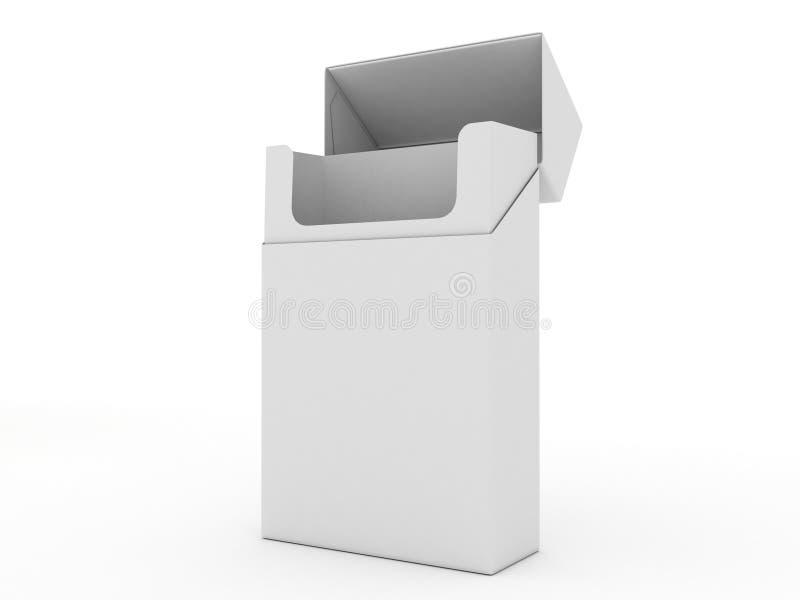 香烟倒空查出的开放装箱白色 皇族释放例证