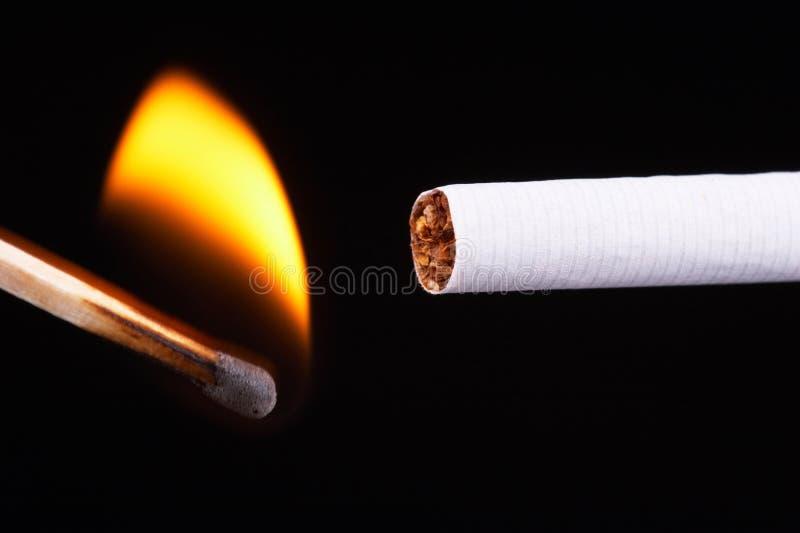 香烟光 免版税图库摄影