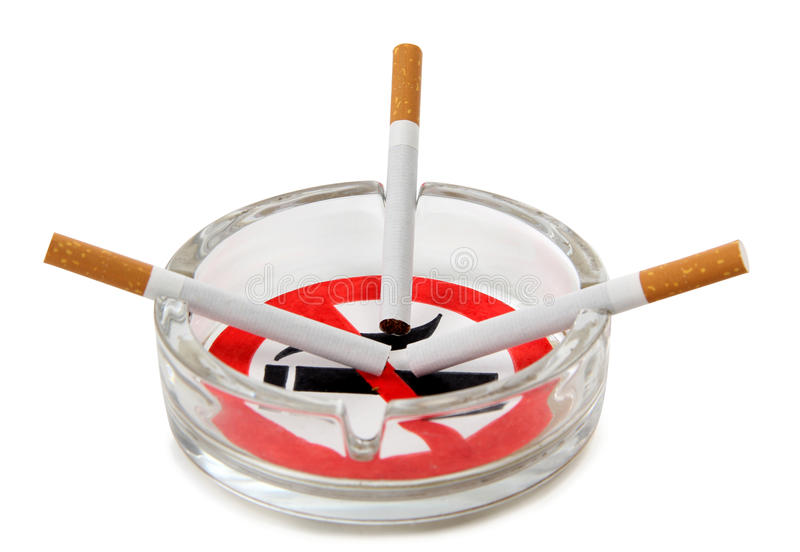 香烟和标志 库存图片