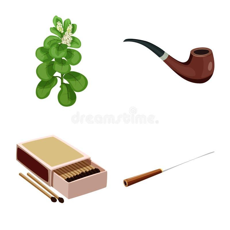 香烟和烟草象的传染媒介例证 香烟和尼古丁股票简名的汇集网的 皇族释放例证