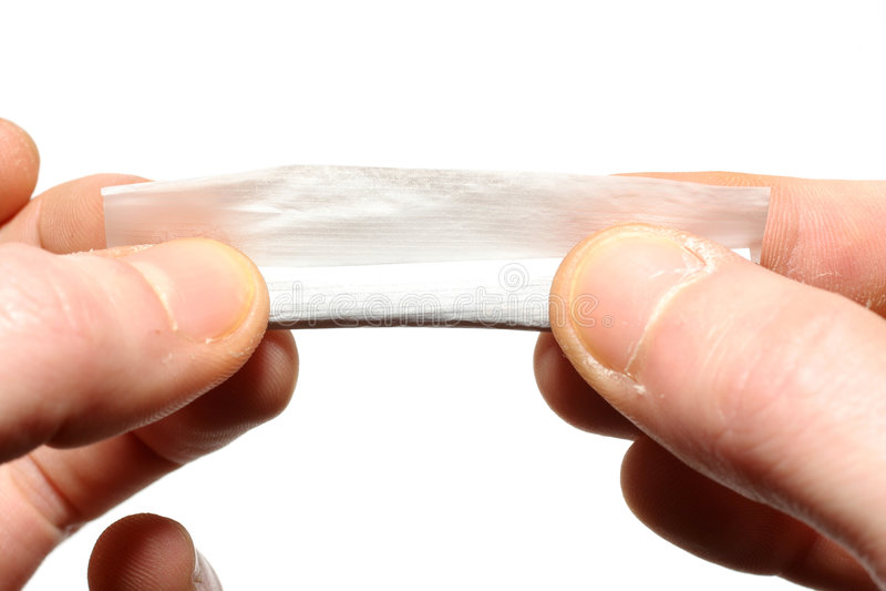 香烟滚 库存图片
