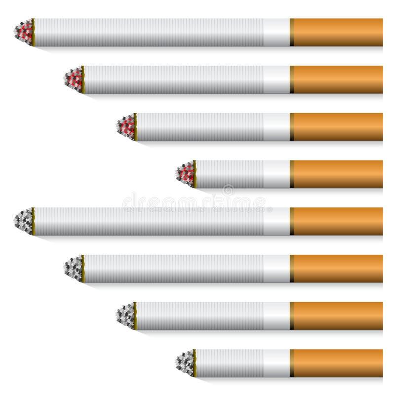 香烟过滤桔子 向量例证