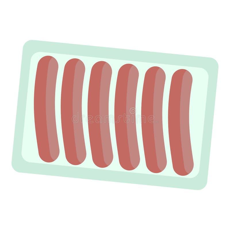 香肠组装象,平的样式 皇族释放例证