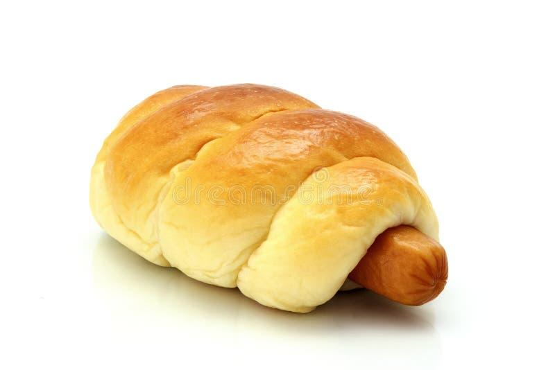香肠面包 库存图片