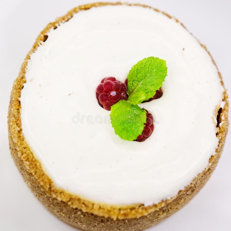香草乳酪蛋糕用莓 图库摄影