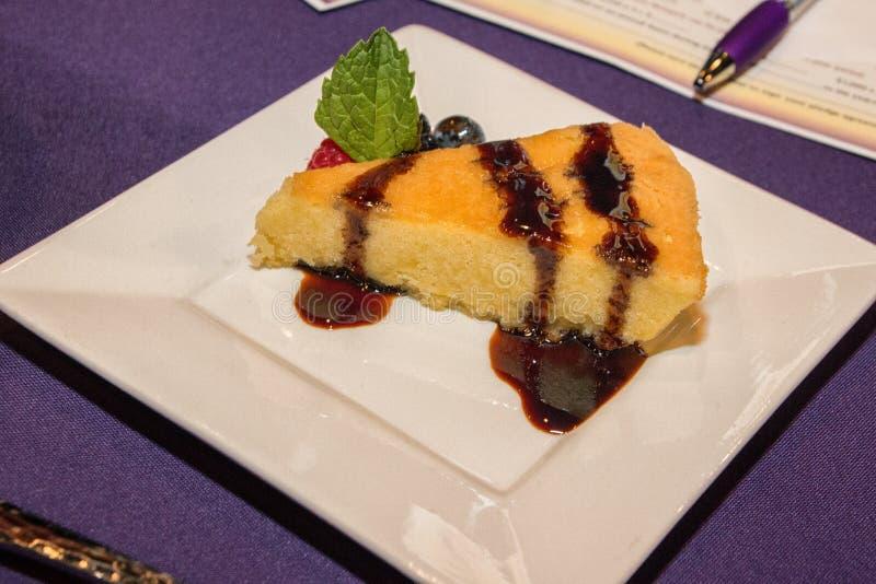 香草乳酪蛋糕 免版税库存照片