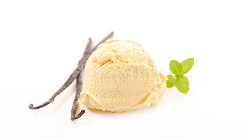香草冰淇淋 免版税库存照片