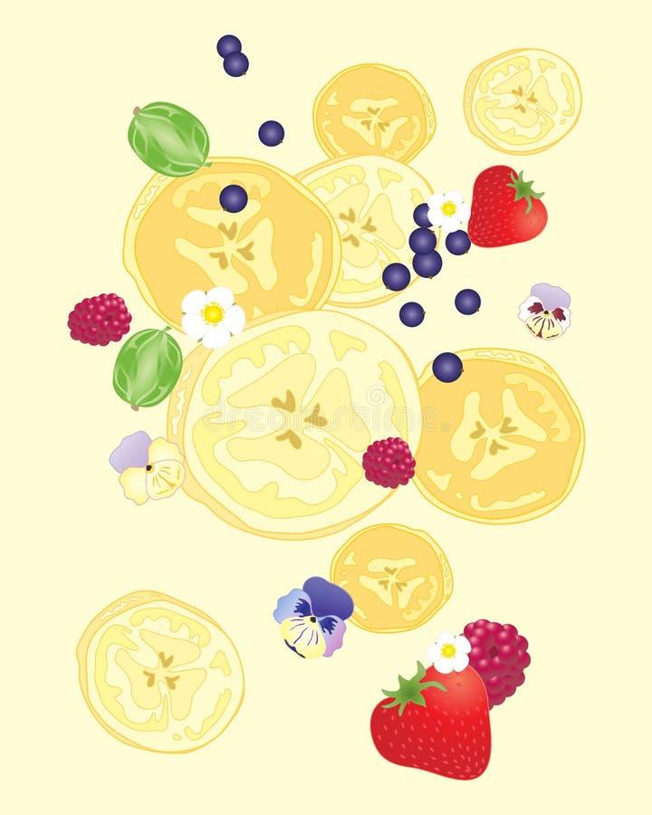香蕉切片设计 图库摄影
